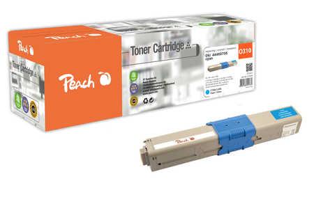 Peach  Tonermodul cyan kompatibel zu OKI C 310 DN