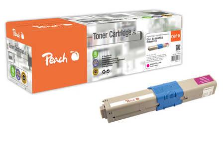 Peach  Tonermodul magenta kompatibel zu OKI C 310 DN