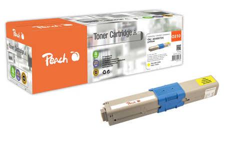 Peach  Tonermodul gelb kompatibel zu OKI C 310 DN