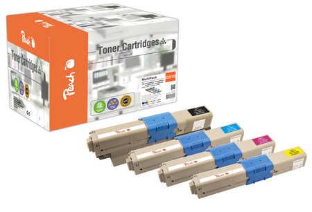Peach  Spar Pack Tonermodule kompatibel zu OKI C 310 DN