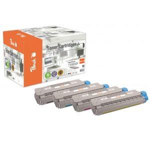 Peach  Spar Pack Tonermodule kompatibel zu OKI C 610 DN 7640155896962
