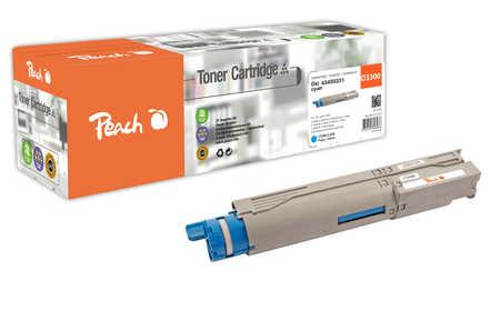 Peach  Tonermodul cyan kompatibel zu OKI C 3300