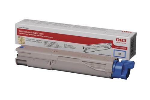 Original  Tonerpatrone cyan OKI C 3300