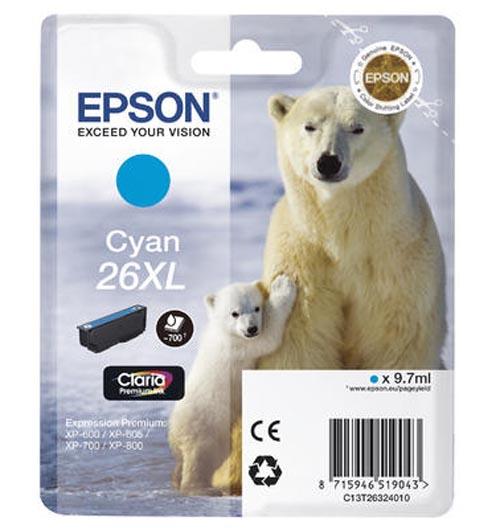 Original  Tintenpatrone XL cyan Epson Expression Premium XP-700