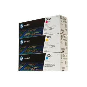 Original Toner Tri-Pack CMY HP Color LaserJet Enterprise CP 4525 n 0887111403049