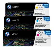 Original 3  Tonerpatronen CMY (Rainbow-Kit) HP Color LaserJet CP 2025 N