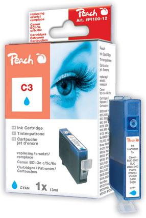 Peach  Tintenpatrone cyan kompatibel zu Canon BJC 8200