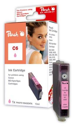 Peach  Tintenpatrone photo magenta kompatibel zu Canon BJC 8200