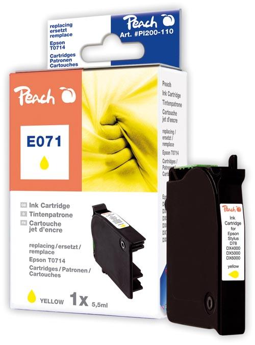 Peach  Tintenpatrone gelb kompatibel zu Epson Stylus Office BX 310 FN