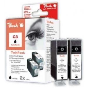 Peach  Twin Pack schwarz kompatibel zu Canon BJC 6000 7640108778543