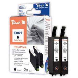 Peach  Doppelpack Tintenpatronen schwarz kompatibel zu Epson Stylus DX 4850 7640108778604