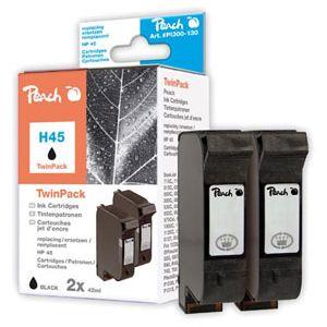 Peach  Doppelpack Druckköpfe schwarz kompatibel zu HP OfficeJet R 80 7640108778628