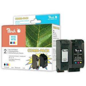 Peach  Spar Pack Druckköpfe kompatibel zu HP DeskJet 3822 7640108778635