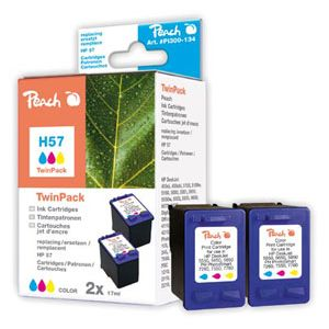 Peach  Doppelpack Druckköpfe color kompatibel zu HP OfficeJet 5510 7640108778666