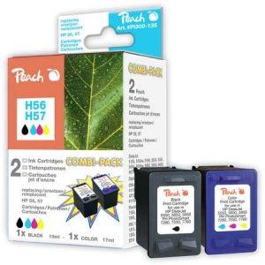 Peach  Spar Pack Druckköpfe Tintenpatronen bk/c kompatibel zu HP OfficeJet 5510 7640108778673