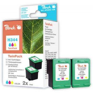 Peach  Doppelpack Druckköpfe color kompatibel zu HP OfficeJet 7408 7640108778703