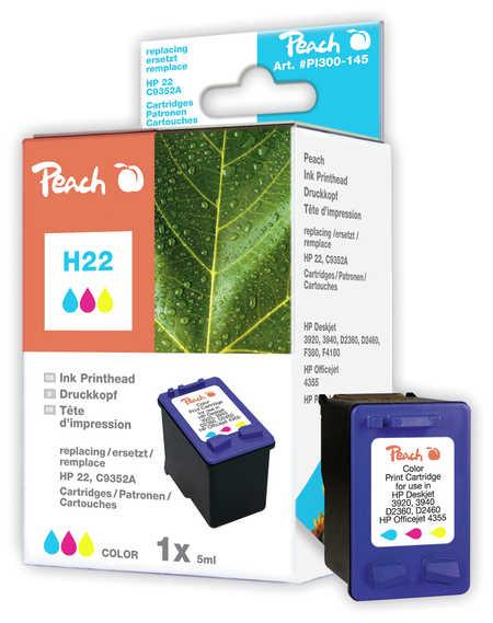 Peach  Druckkopf color kompatibel zu HP OfficeJet 4625