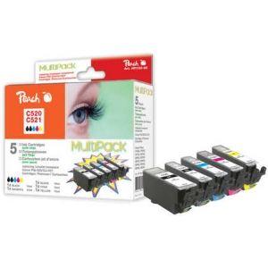 Peach  Spar Pack Tintenpatronen, XL-Ergiebigkeit, kompatibel zu Canon Pixma MP 620 7640124895026