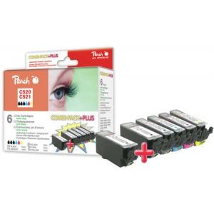 Peach  Spar Pack Plus Tintenpatronen, XL-Ergiebigkeit, kompatibel zu Canon Pixma MP 620 7640124895514