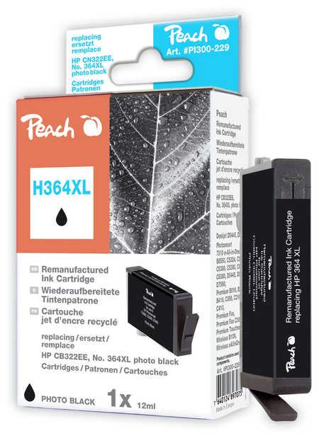 Peach  Tintenpatrone foto schwarz kompatibel zu HP PhotoSmart Premium C 410 Series