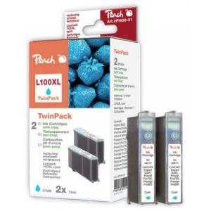 Peach  Doppelpack 2 Tintenpatronen cyan kompatibel zu Lexmark Prospect Pro 205 7640148551014