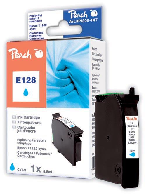 Peach  Tintenpatrone cyan kompatibel zu Epson Stylus SX 420 W