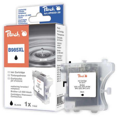 Peach  Tintenpatrone schwarz, XL-Ergiebigkeit, kompatibel zu Brother DCPJ 125