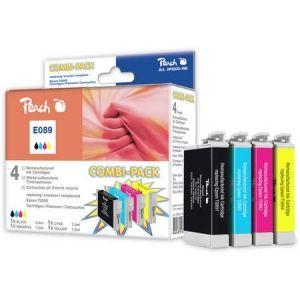 Peach  Spar Pack Tintenpatronen kompatibel zu Epson Stylus SX 210 Series 7640148551885