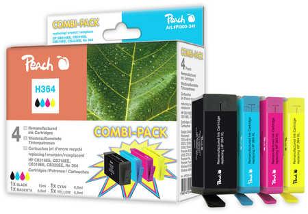 Peach  Spar Pack Tintenpatronen kompatibel zu HP PhotoSmart Premium C 410 Series