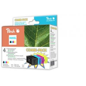 Peach  Spar Pack Tintenpatronen kompatibel zu HP OfficeJet 6500 Wireless 7640148556101