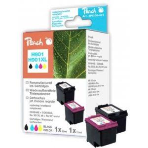 Peach  Spar Pack Druckköpfe kompatibel zu HP OfficeJet J 4540 7640155893442