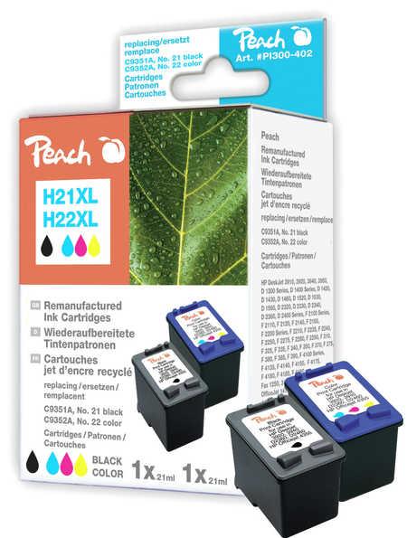 Peach  Spar Pack Druckköpfe kompatibel zu HP OfficeJet 4625