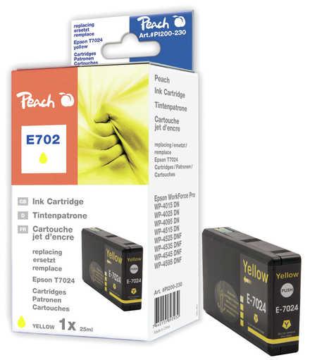 Peach  Tintenpatrone gelb kompatibel zu Epson WorkForce Pro WP-4095 DN