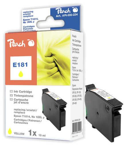 Peach  Tintenpatrone gelb kompatibel zu Epson Expression Home XP-302