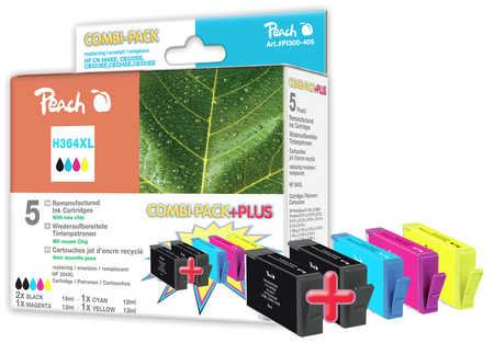 Peach  Spar Pack Plus Tintenpatronen kompatibel zu HP PhotoSmart Premium C 410 Series