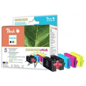 Peach  Spar Pack Plus Tintenpatronen kompatibel zu HP DeskJet 3520 e-All-in-One 7640155893961