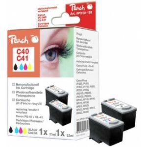 Peach  Spar Pack Tintenpatronen kompatibel zu Canon Pixma IP 2500 7640155894357