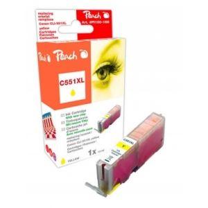 Peach  XL-Tintenpatrone gelb kompatibel zu Canon Pixma MX 725 7640155894456