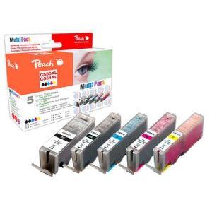 Peach  Spar Pack Tintenpatronen XL-Ergiebigkeit, kompatibel zu Canon Pixma MX 725 7640155894463