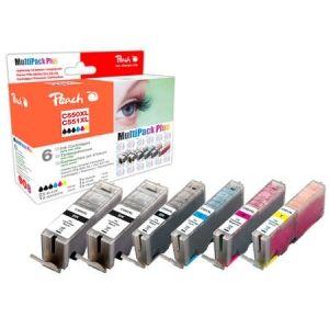 Peach  Spar Pack Plus Tintenpatronen, XL-Ergiebigkeit, kompatibel zu Canon Pixma MX 725 7640155894470