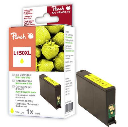 Peach  Tintenpatrone gelb XL kompatibel zu Lexmark Interpret S 415