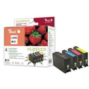 Peach  Spar Pack Tintenpatronen, XL-Ergiebigkeit, kompatibel zu Lexmark Interpret S 415 7640155898966