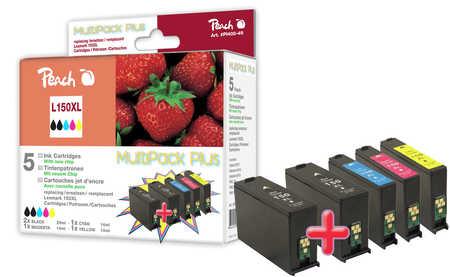Peach  Spar Plus Pack Tintenpatronen, XL-Ergiebigkeit, kompatibel zu Lexmark Interpret S 415