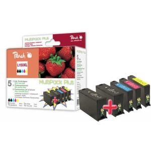 Peach  Spar Plus Pack Tintenpatronen, XL-Ergiebigkeit, kompatibel zu Lexmark Pro 915 7640155898973