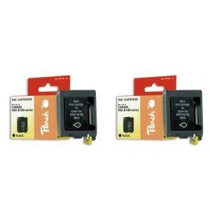 Peach  Doppelpack Druckköpfe schwarz kompatibel zu Canon Multipass 10 7640162272049
