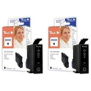 Peach  Doppelpack Tintenpatronen schwarz kompatibel zu Epson Stylus C 80 7640162272285