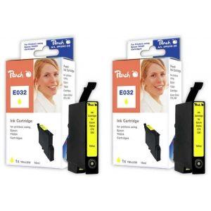 Peach  Doppelpack Tintenpatronen gelb kompatibel zu Epson Stylus C 80 7640162272315