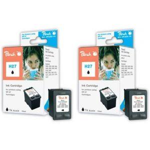 Peach  Doppelpack Druckköpfe schwarz kompatibel zu HP DeskJet 3748 7640162272353