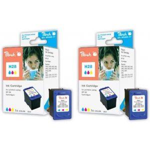 Peach  Doppelpack Druckköpfe color kompatibel zu HP OfficeJet 4215 V 7640162272360