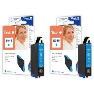 Peach  Doppelpack Tintenpatronen cyan kompatibel zu Epson Stylus Photo R 300 7640162272544